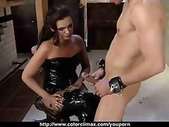 Mature Dominatrix Pegs Young Man