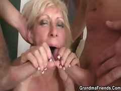Resistive cum freak with a horrifying treasure chest takes on two tally-whackers