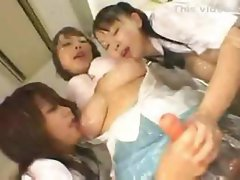Japanese Girls Covered In Lotion Part 2