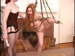 Flippant garbage can with a stunning nook gets some pain from her mistress