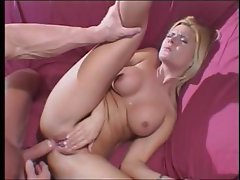 Evil blonde shorty with a decent canal does some hardcore butt banging