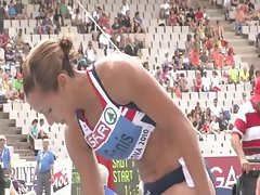 Olympian Jessica Ennis is caught on film showing her sexy ass
