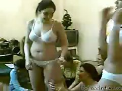Wasted Indian sister with a green poontang dances in her undies