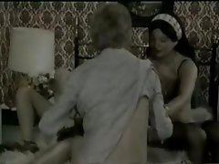 Hardcore vintage Danish action with horny MILFs sharing a hard dick