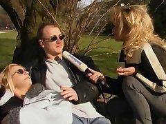 Obscene German gurls with devilish patchoulis do some amateur porn