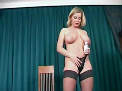 Indecent sketell with a fat-free cocksheath, Veronika Pagacova, fondles her huge tits