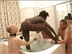 In the wrong black trick with a subtle lucifer's cradle does some interracial with her slaves