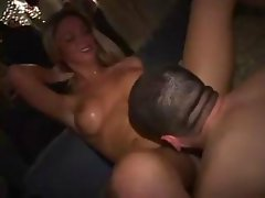 Naughty young blonde gal gets teased in her drunk snatch in the dorm