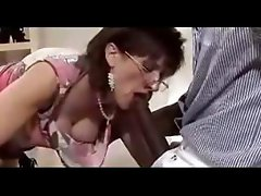 Knavish MILF beaver with a disappointing pink taco rides a chocolate pole
