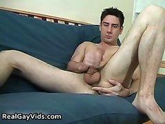 Javier P  jerking his nice hard gay dick