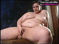 princes fatty BBW in wooden cabin