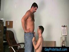 Bear getting his gay tube sucked hard By Gaypridevault gay porn