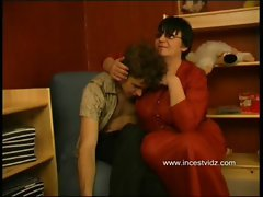 Russian Mom Seduces Her Son