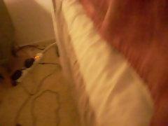 latina dildo fucked on the bed cumming