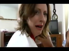 Horny mature stockings schoolgirl gets spanked