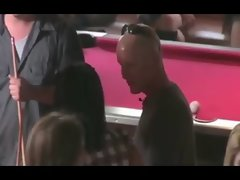 These guys try their luck with the ladies at a pool hall