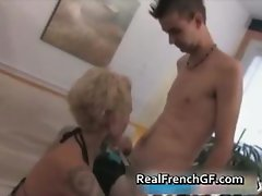 Tattooed french gf blows and bangs part1