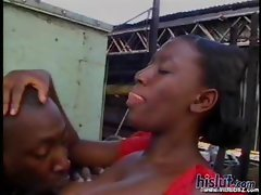 This ebony slut got rammed