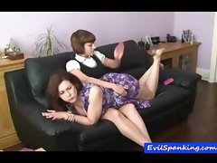 Amateur girls enjoying a spanking