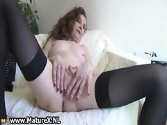 Experienced mom spreads her wet pussy part3