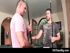 Hot gay sex during pool match part2