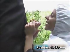 Slutty french nun fucked outside porno part4
