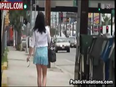 Poor amateur girls sharked in public