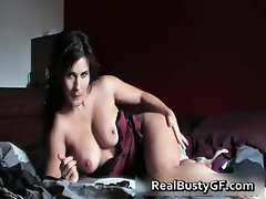 Real busty GF exposed masturbating for part1