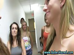 Teens hazed naked line up