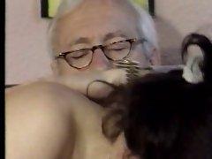 Distinguished old grandpa getting some good head