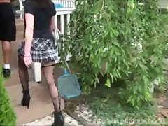 Sexy School girl bound