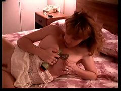 Hot Tattoed Mum Squirts with Dildo on her Bed Vinzzz007