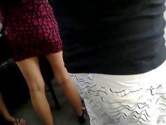 miniskirt public legs 4