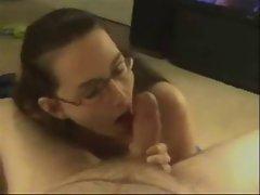 Nerdy Amateur Sucker