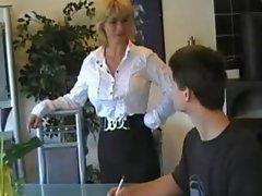 German Mom Teaches Young Boy