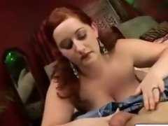Huge Tits BBW Wife Blowjob and Ass Fuck