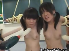 Asian female students getting punished part6