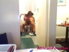 Afro babe Nadia rides tourist in spycam