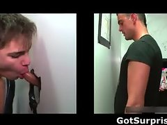 Straight hunk gets gay dick suck part3