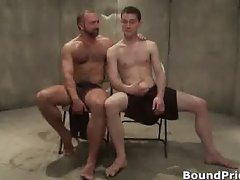 Josh and CJ in horny extreme gay bondage part6