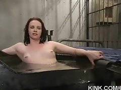Busty sexy hot girl submits to punishment