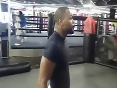 he getting jiggy while training