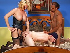 Pussy dripping over threesome