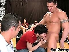 Bunch of drunk gay guys go crazy in club