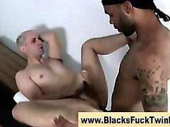 Watch interracial twink get a facial