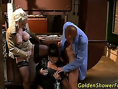 Classy fetish sluts get soaked