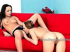 Vixen Aya and teen Beatrice make out