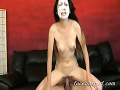 Hardcore asian pussy pounding as two men use her for their own pleasure