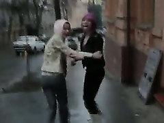 two polish pornstar on the street