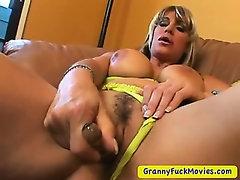 My hot and horny grandma masturbating